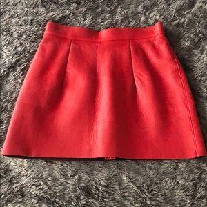 AA Genuine Leather Mini Skirt